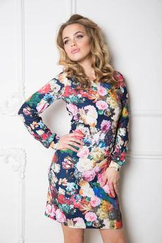Платье с набивными цветами Open-Style со скидкой