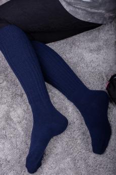 Новинка: синие длинные женские гольфы из ангоры Натали