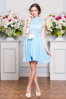 Голубое коктейльное платье Angela Ricci со скидкой